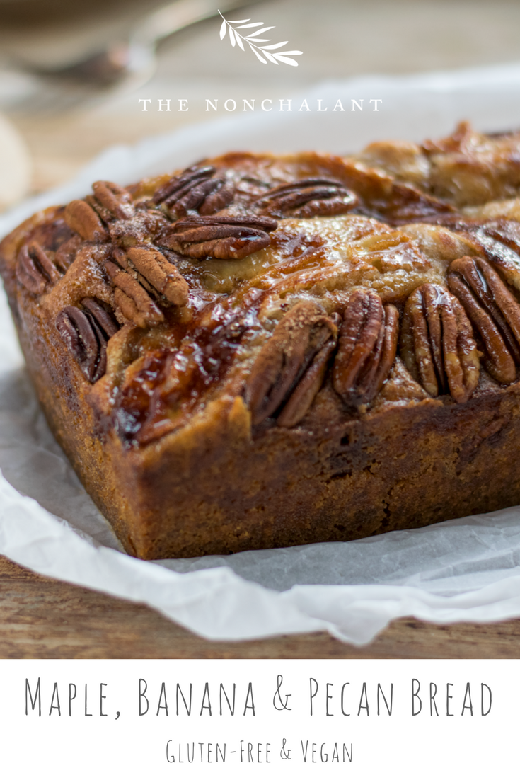 Maple Banana Pecan Bread gluten free and vegan