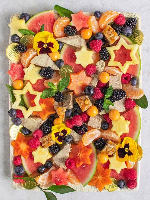 The Hanukkah Fruit & Halva Board