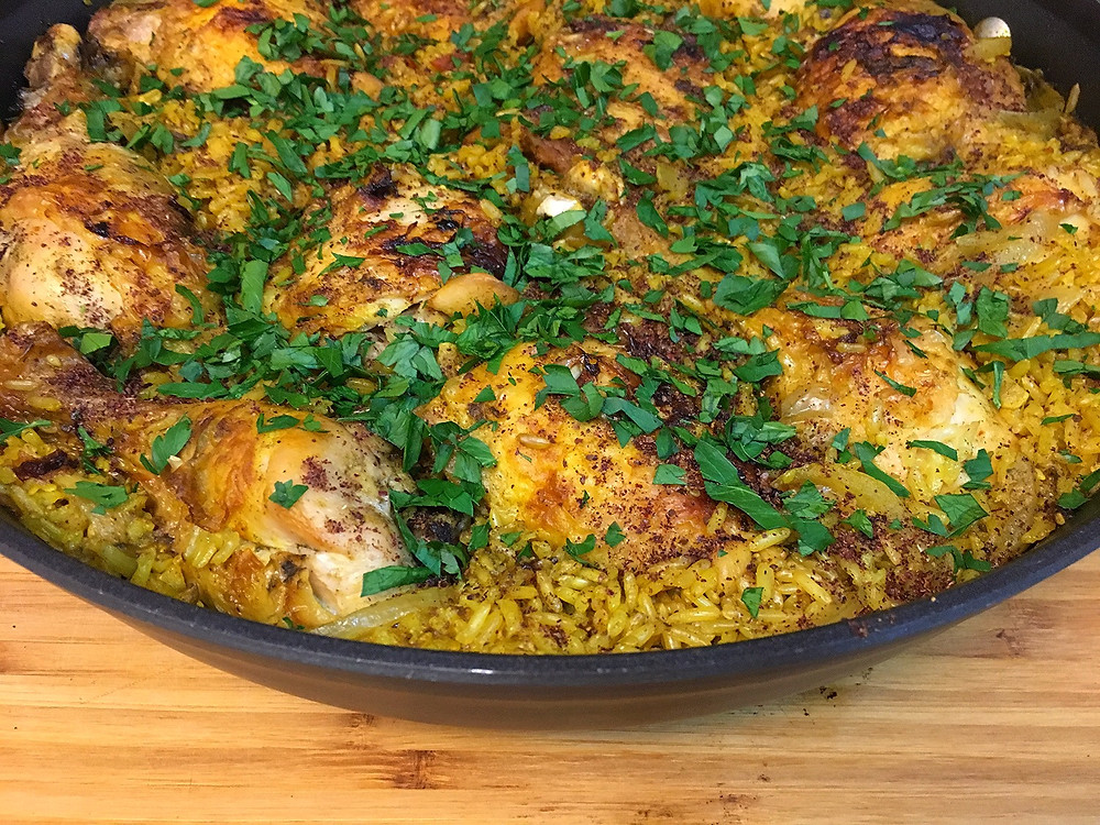 mediterranean chicken and rice one pot meal