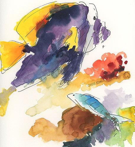 Digital Copy for Printing -Purple Yellow Fish