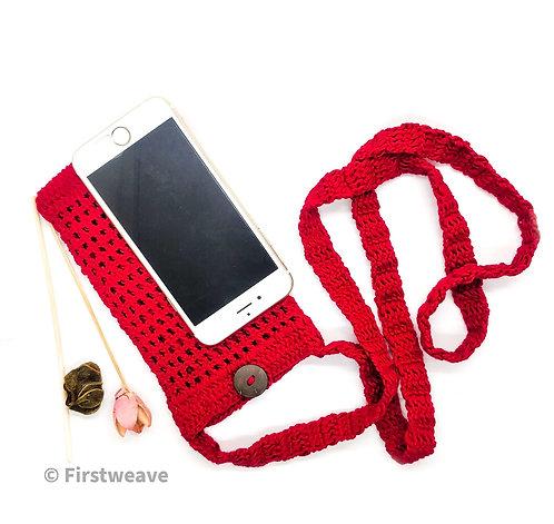 Multipurpose Mobile Sling Bag Red