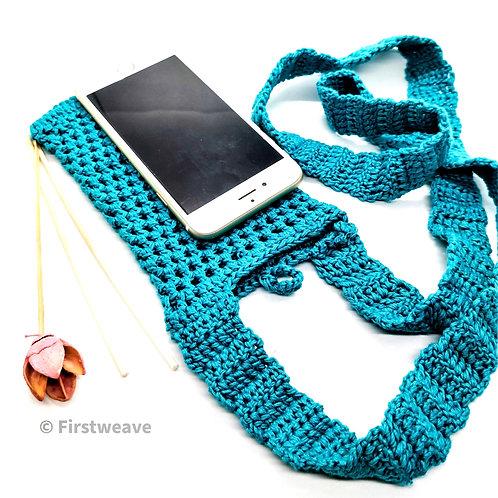 Multipurpose Mobile Sling Bag Teak Blue