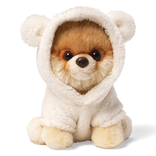 "Gund 5"" Itty Bitty Boo The Worlds Cutest Dog Cuddly Soft Toy in Bear Suit"