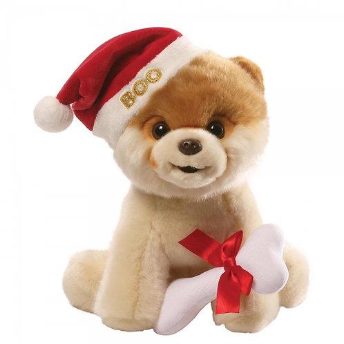 "Gund Large 9"" Boo The Worlds Cutest Dog Christmas Santa Hat Soft Toy"