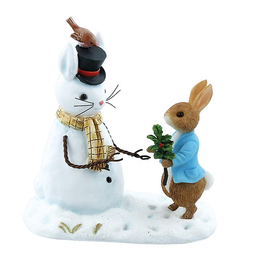 Beatrix Potter Peter Rabbit and Snow Rabbit Christmas Figurine