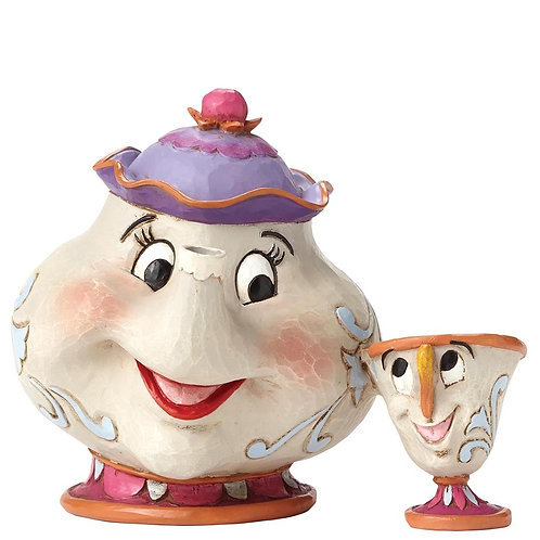 Disney Traditions Mrs Potts and Chip Figurine Beauty and the Beast