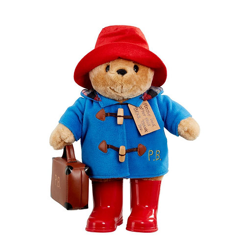 Classic Paddington Bear Soft Toy With Boots and Suitcase Large 13""