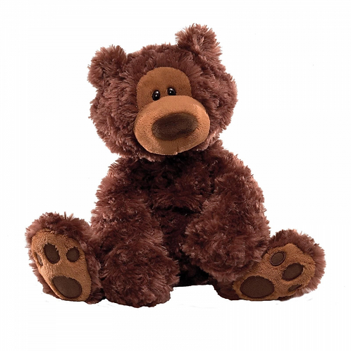 Gund Philbin Chocolate Brown Fur Teddy Bear Plush Soft Toy