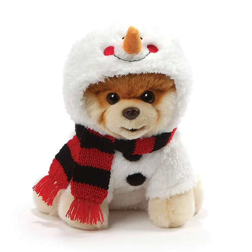 """Gund Large 9"""" Boo The Worlds Cutest Dog Christmas Snowman Soft Toy"""