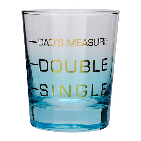Dad's Measure Printed Novelty Whiskey Glass Fathers Day Gift