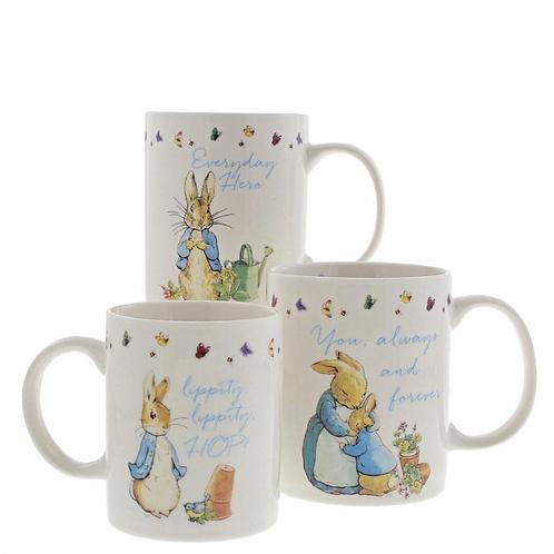 Beatrix Potter Peter Rabbit Mummy, Daddy, and Me Mug Gift Set