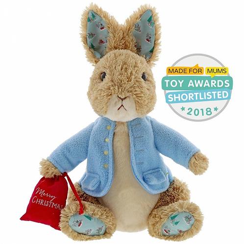 Beatrix Potter Peter Rabbit Christmas Soft Plush Toy Gund Large