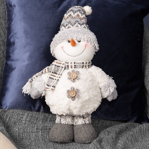"Winter Wonderland Standing 12"" Soft Plush Snowman Christmas Decoration"