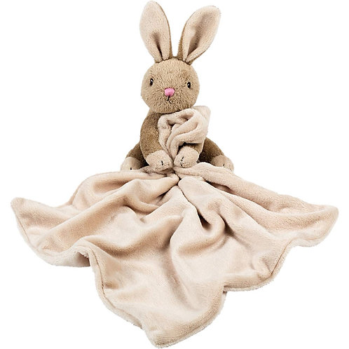 Suki Baby Bobtail Bunny Rabbit Soft Toy Comforter Comfort Blanket