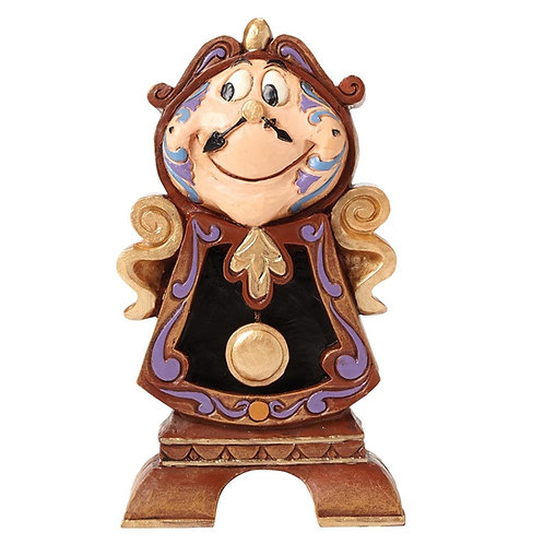 Disney Traditions Keeping Watch Cogsworth Figurine Beauty and The Beast