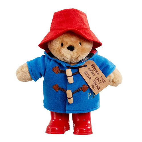 Classic Paddington Bear Soft Plush Toy With Boots 25cm