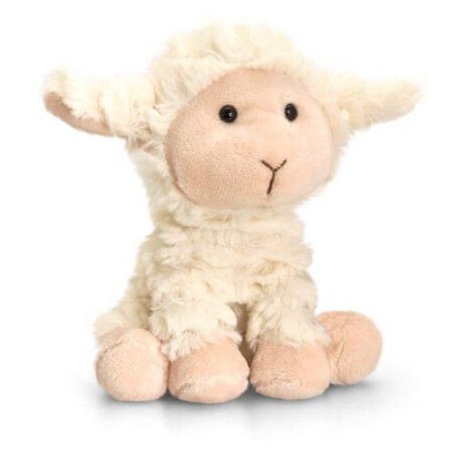 Keel Toys Scottish Flag Sheep Soft Toy Snowball 20cm