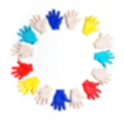 Autism awareness concept with colorful h