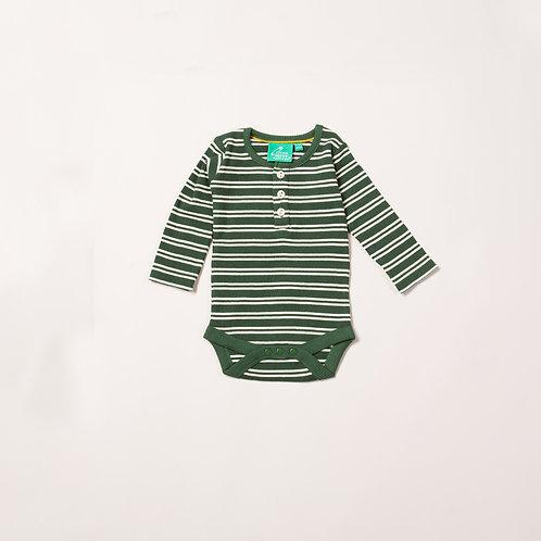 Vintage Green Stripes Forever Babybody