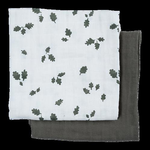 Muslin Cloth, 2 pack - Oak Leaf