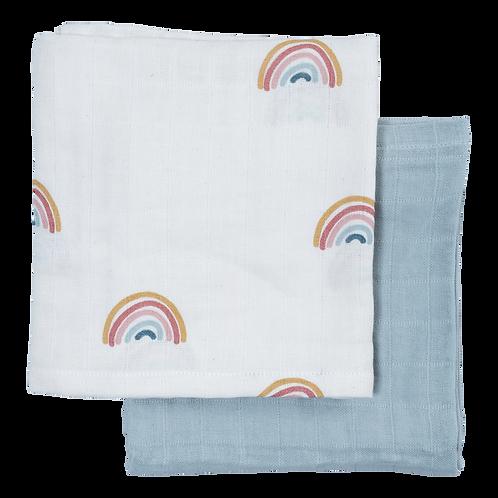 Muslin Cloth, 2 pack - Rainbow