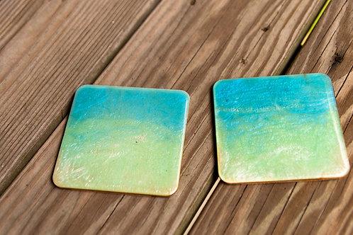 Ocean Colors resin coasters