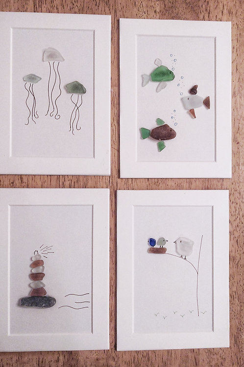 Sea Glass Art - Portrait