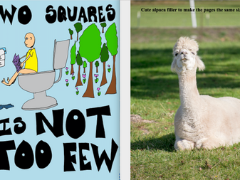 Two Squares is not too few rough draft