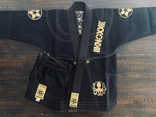 """KNOXX Youth Jiu Jitsu """"Quest For Gold- V2"""" Black  Gi"""