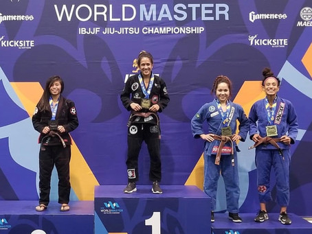 Great Job by @jynrosebjj and @rocstar15 for making it on the podium at Worlds... Silver and Bronze