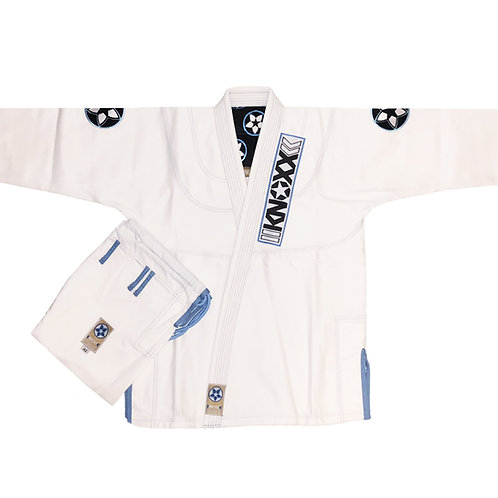 "KNOXX Jiu Jitsu ""Blue Eyes"" White Gi"