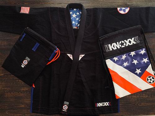 "KNOXX Jiu Jitsu ""Heritage Series- USA"" Black Gi"