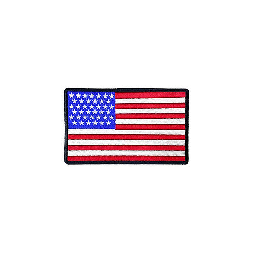 USA Embroidered Patch -Black Border