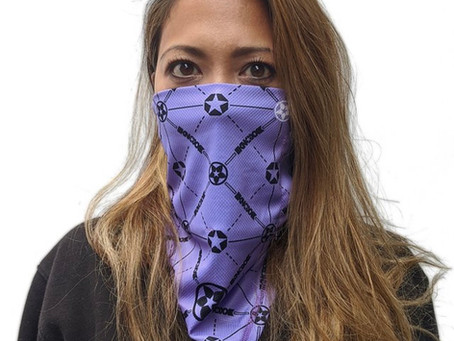 KNOXX MONOGRAM BANDIT GAITOR FACE COVERING