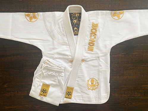 "KNOXX Youth Jiu Jitsu ""Quest For Gold- V2"" White  Gi"