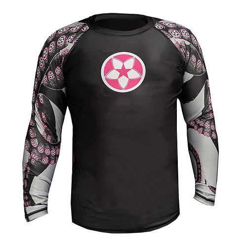 """KNOXX """"Octo-Knoxx""""  Rashguard -Blk/Pink"""