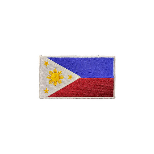 Phillipines Embroidered Patch -White Border