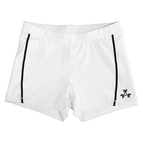 "KNOXXFIT WOMEN'S TRAINING SHORTS ""SHORTY"" White Black"
