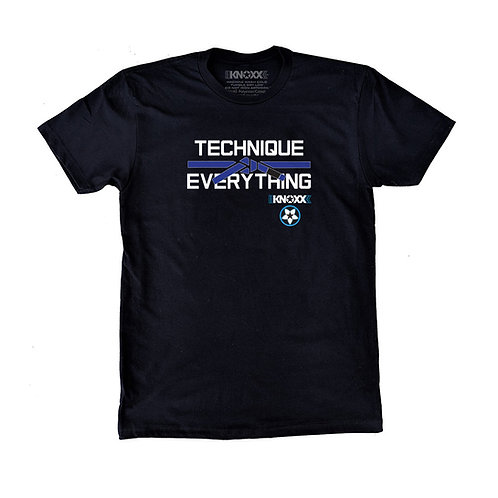 "KNOXX Shirt ""Technique Over Everything""-Blue"