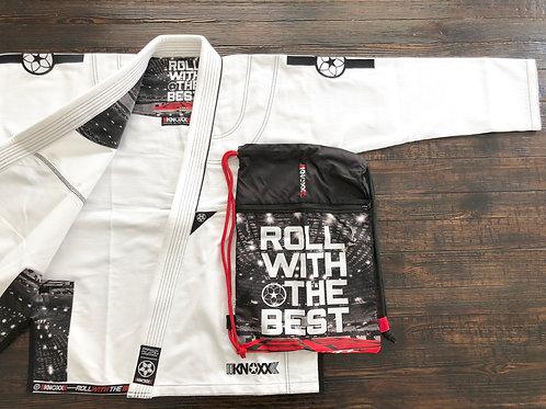 """KNOXX Youth Jiu Jitsu """"RWTB"""" White Gi"""