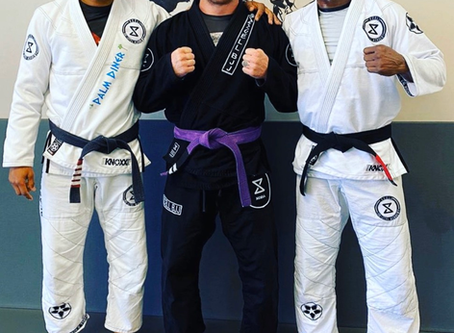 Black belts , Jorge Santiago and Kamaru Usman