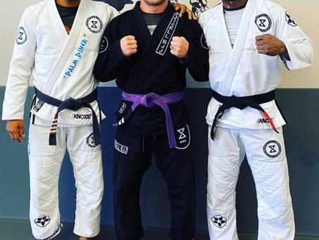Black belts , Jorge Santiago and Kamaru Usman