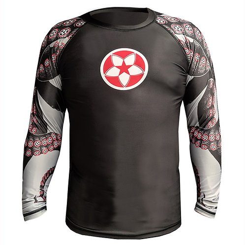 "KNOXX ""Octo-KNOXX"" Youth  Rashguard- Blk/Red"
