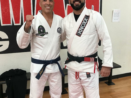Owner of Smash Gyms,Rudy Sanchez with UFC legend, Royce Gracie