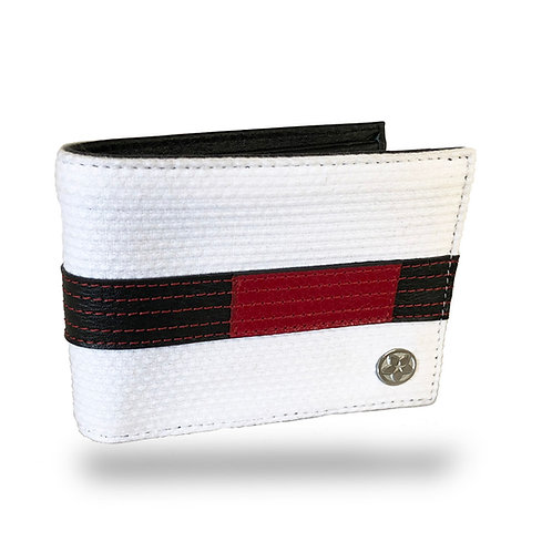 KNOXX Collectors Edition: White Jiu Jitsu Gi Wallets in Ranked Belt Colors