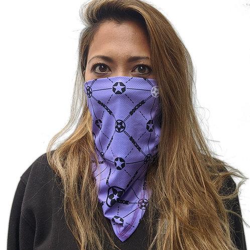 KNOXX MONOGRAM BANDIT GAITOR Purple