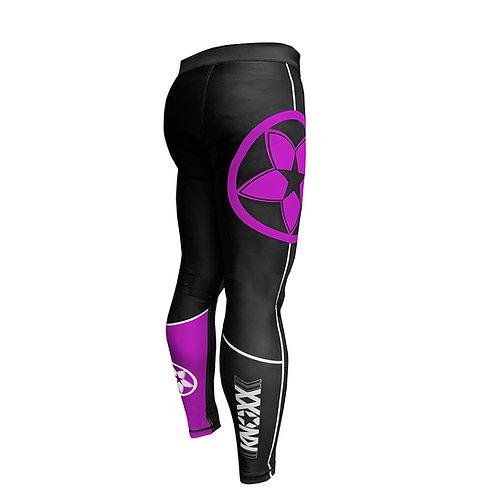 KNOXX Jiu Jitsu Spats Blk/Purple