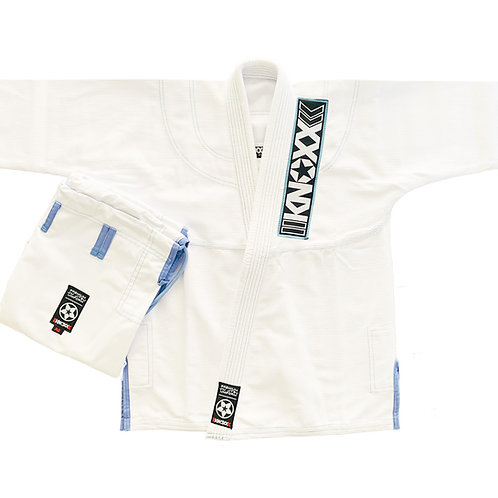"""KNOXX Jiu Jitsu """"Kusari V2"""" White/Blue Gi"""