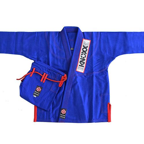 "KNOXX Fitted Jiu Jitsu ""Kusari V2"" Gi Blue/Red"