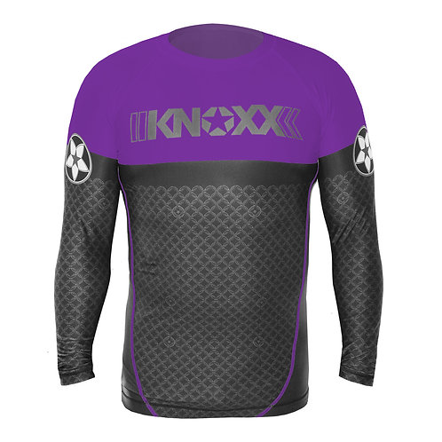 "KNOXX Rank ""Links"" Rashguard -Purple"